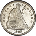 Seated Dollars, 1845 $1 MS61 PCGS. CAC....