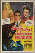"""Movie Posters:Crime, Confessions of Boston Blackie (Columbia, 1941). One Sheet (27"""" X41""""). Crime.. ..."""