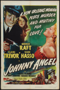 "Movie Posters:Crime, Johnny Angel (RKO, 1945). One Sheet (27"" X 41""). Crime.. ..."
