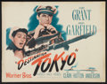 "Movie Posters:War, Destination Tokyo (Warner Brothers, 1943). Half Sheet (22"" X 28"")Style A. War.. ..."