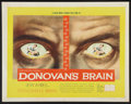 "Movie Posters:Science Fiction, Donovan's Brain (United Artists, 1953). Half Sheet (22"" X 28""). Science Fiction.. ..."