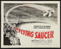 "The Flying Saucer (Film Classics, Inc., 1950). Half Sheet (22"" X 28""). Science Fiction"