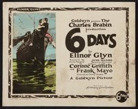 "Six Days (Goldwyn-Cosmopolitan, 1923). Title Lobby Card and Lobby Cards (5) (11"" X 14""). Drama. ... (Total: 6..."