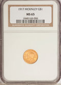 Commemorative Gold, 1917 G$1 McKinley MS65 NGC....