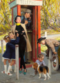Mainstream Illustration, TOM LOVELL (American, 1909-1997). The Blue Hour, Cosmopolitanillustration, 1951. Oil on board. 22.5 x 16 in.. Signed lo...