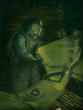 Mainstream Illustration, EDGAR F. WITTMACK (American, 1894-1956). Diver Welding. Oilon canvas. 24 x 18 in.. Signed lower left. ...