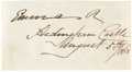 "Autographs:Non-American, Hawaiian Queen Emma Signature, 4.25"" x 2.25"". Emma, queen to KingKamehameha IV from 1856 to his death in 1863, signs, ""Em..."