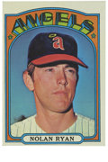 Baseball Cards:Singles (1970-Now), 1972 Topps Nolan Ryan #595. Nice card of all-time strikeout leaderNolan Ryan, shown shortly after joining the California An...