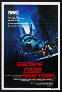 """Escape from New York (Columbia, 1981). Australian One Sheet (27"""" X 41"""")"""
