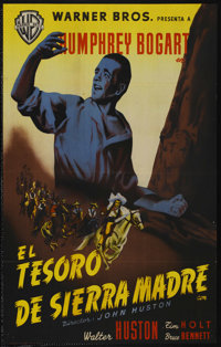 """The Treasure of the Sierra Madre (Warner Brothers, 1948). Spanish One Sheet (27"""" X 39"""")"""