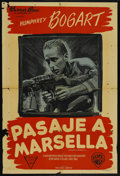 "Movie Posters:War, Passage to Marseille (Warner Brothers, 1944). Argentinean Poster(29"" X 43""). War. ..."