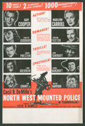 "Movie Posters:Adventure, North West Mounted Police (Paramount, 1940). Herald (9"" X 12""Folded Out). Adventure.. ..."