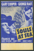 "Movie Posters:Adventure, Souls at Sea (Paramount, 1937). Herald (9"" X 12"" Folded Out).Adventure.. ..."