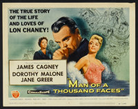"""Man of a Thousand Faces (Universal International, 1957). Lobby Card Set of 8 (11"""" X 14""""). Drama. ... (Total: 6..."""