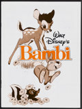 "Movie Posters:Animated, Bambi (Buena Vista, R-1982). One Sheet (27"" X 41""), Pressbook(10.5"" X 14""), Ad Supplement (9.75"" X 13""), and Color Stills (...(Total: 5 Items)"