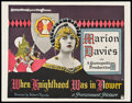 "Movie Posters:Romance, When Knighthood Was in Flower (Paramount, 1922). Half Sheet (22"" X28"") Style A. Romance.. ..."