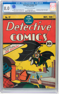 Detective Comics #27 (DC, 1939) CGC VF 8.0 Off-white to white pages
