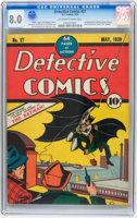 Featured item image of Detective Comics #27 (DC, 1939) CGC VF 8.0 Off-white to white pages....