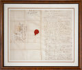 "Autographs:Artists, John J. Audubon Autograph Letter Signed. Two and one-quarter pages,16.25"" x 13"" (sight), March 23, 1833, Boston, to his fir..."