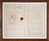 "John J. Audubon Autograph Letter Signed. Two and one-quarter pages, 16.25"" x 13"" (sight), March 23, 1833, Bost..."