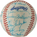 Autographs:Bats, 1982 American League All-Star Team-Signed Baseball....