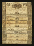 Obsoletes By State:Maryland, Baltimore, MD- The Susquehanna Bridge & Bank Company; $5, $10, $20.. ... (Total: 10 notes)
