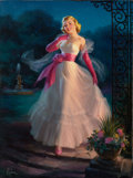 Pin-up and Glamour Art, ART FRAHM (American, 1906-1981). Stroll in the Moonlight.Oil on canvas. 31.75 x 23.75 in.. Signed lower left. ...