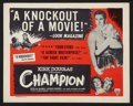 "Movie Posters:Sports, Champion (Astor, R-1955). Lobby Card Set of 8 (11"" X 14""). Sports.. ... (Total: 8 Items)"