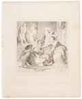 Antiques:Posters & Prints, Eight Steel Engravings From Goethe's Reineke Fuchs Includingthe Suppressed Illustration. From Reineke Fuchs... (Total: 8Items)