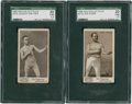 Boxing Cards:General, 1895 Mayo Cut Plug Boxers SGC-Graded Pair (2)....