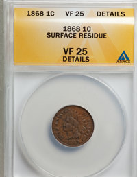 1868 1C --Surface Residue--VF25 ANACS. VF25 Details. NGC Census: (0/2). PCGS Population (3/281). Mintage: 10,266,500. Nu...