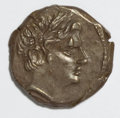 Ancients:Greek, Ancients: Sicily, Punic. Second Punic War. 221-201 B.C. AR 1/4shekel (14 mm, 1.81 g, 12 h)....