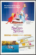"Movie Posters:Animated, The Sword in the Stone/Winnie the Pooh and a Day for Eeyore Combo(Buena Vista, R-1983). One Sheet (27"" X 41""). Animated.. ..."