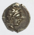 Ancients:Greek, Ancients: Calabria, Taras. Ca. 302-280 B.C. AR diobol (11 mm, 1.13g, 10 h)....