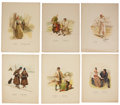Antiques:Posters & Prints, Six Color Lithograph Illustrations of Swedish Costumes, depictingthe various traditional costumes of Lapland, and other Swe...(Total: 6 Items)