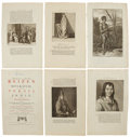Antiques:Posters & Prints, Five Engraved Illustrations From Cornelis de Bruin's Reizen OverMoskovie. Each page measures 9.75 x 16 inches.... (Total: 5Items)