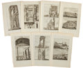 Antiques:Posters & Prints, Seven Engraved Illustrations From Cornelis de Bruin's Reizen Over Moskovie. Each page measures 9.75 x 16 inches.... (Total: 7 Items)