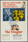 "Movie Posters:Horror, The Tingler (Columbia, 1959). One Sheet (27"" X 41""). Horror.. ..."