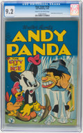 Golden Age (1938-1955):Funny Animal, Four Color #130 Andy Panda (Dell, 1946) CGC NM- 9.2 Cream tooff-white pages.