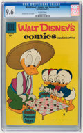 Silver Age (1956-1969):Cartoon Character, Walt Disney's Comics and Stories #204 (Dell, 1957) CGC NM+ 9.6 Off-white pages.