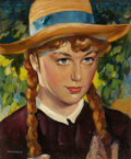 Mainstream Illustration, LEALAND R. GUSTAVSON (American, 1894-1966). Anne of GreenGables, movie promotion illustration, c. 1934. Oil on board.1...