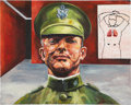 Baseball Collectibles:Others, Christy Mathewson Original Painting....