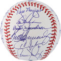Autographs:Baseballs, 1986 New York Mets Reunion Team Signed Baseball....