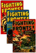 Golden Age (1938-1955):War, Fighting Fronts! #1-5 File Copies Group (Harvey, 1952-53) Condition: Average VF+.