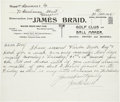 Golf Collectibles:Autographs, 1925 James Braid Handwritten Signed Letter....