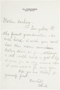 Golf Collectibles:Autographs, 1931 Chick Evans Handwritten Signed Letter....