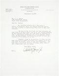 "Golf Collectibles:Autographs, 1947 Robert T. ""Bobby"" Jones Signed Letter...."