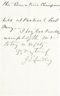 Golf Collectibles:Autographs, 1888 Johnny Laidley Handwritten Signed Letter....