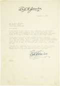 Golf Collectibles:Autographs, 1953 Babe D. Zaharias Signed Letter....