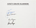 Golf Collectibles:Autographs, 1990's Golf Grand Slam Winners Signed Page....